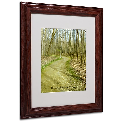 Kathie McCurdy 'Does This Path Have a Heart' Matted Framed - 16x20 Inches - Wood Frame