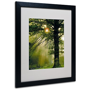 Kathie McCurdy 'Magical Tree' Matted Framed Art - 11x14 Inches - Wood Frame