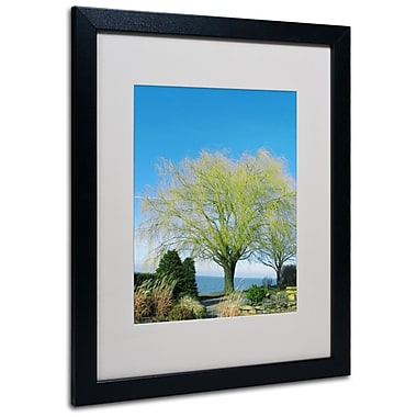 Kathie McCurdy 'Wind In the Willow' Matted Framed Art - 11x14 Inches - Wood Frame