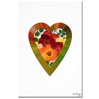 Trademark Global Kathie McCurdy 'Rainbow & Roses' Canvas Art