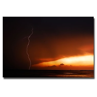 Trademark Fine Art Kurt Shaffer 'Lightning Sunset III' Canvas Art 30x47 Inches