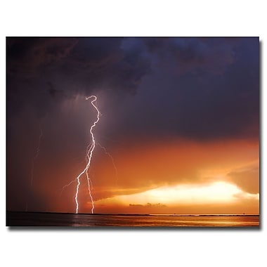 Trademark Fine Art Kurt Shaffer 'Lightning Sunset IV' Canvas Art 35x47 Inches