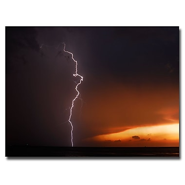 Trademark Fine Art Kurt Shaffer 'Lightning Sunset V' Canvas Art 35x47 Inches
