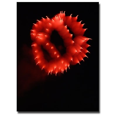 Trademark Fine Art Kurt Shaffer 'Abstract Fireworks III' Canvas Art 35x47 Inches