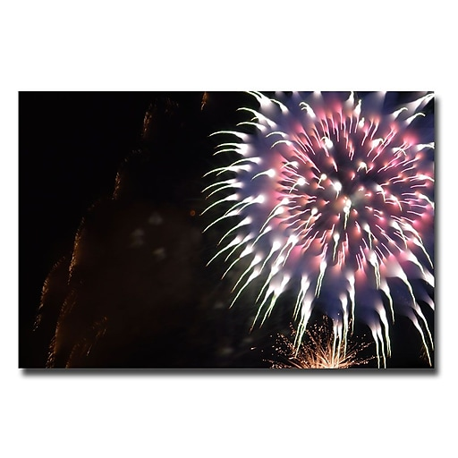 Trademark Fine Art Kurt Shaffe 'Abstract Fireworks V' Canvas Art 16x24 Inches