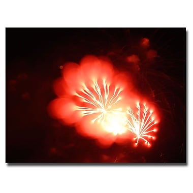 Trademark Fine Art Kurt Shaffer 'Abstract Fireworks VI' Canvas Art 35x47 Inches