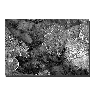 Trademark Fine Art Water Rocks and Ice by Kurt Shaffer-Gallery Wrapped