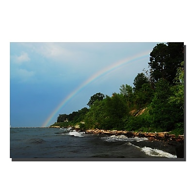 Trademark Fine Art Great Lake Sunset by Kurt Shaffer Canvas Art