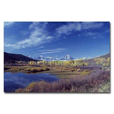Trademark Fine Art Teton Aspen Lake by Kurt Shaffer-Gallery Wrapped