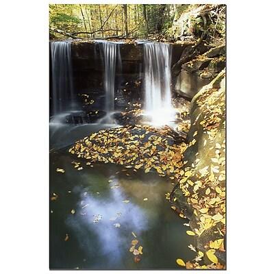 Trademark Fine Art Autumn Falls by Kurt Shaffer-Gallery Wrapped