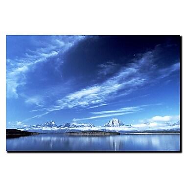 Trademark Fine Art A Grand Teton Vista by Kurt Shaffer-Gallery Wrapped 1 18x24 Inches