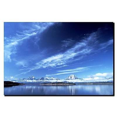 Trademark Fine Art A Grand Teton Vista by Kurt Shaffer-Gallery Wrapped 14x19 Inches