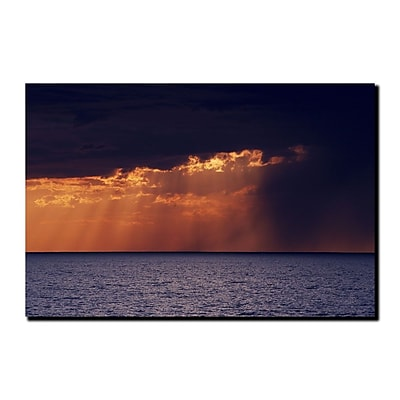 Trademark Fine Art Passing Storm by Kurt Shaffer-Gallery Wrapped Canvas 14x19 Inches