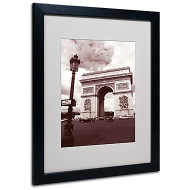 Kathy Yates 'Arc de Triomphe' Matted Framed Art - 11x14 Inches - Wood Frame