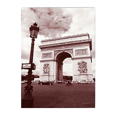 Trademark Fine Art Kathy Yates 'Arc de Triomphe' Canvas Art 30x47 Inches