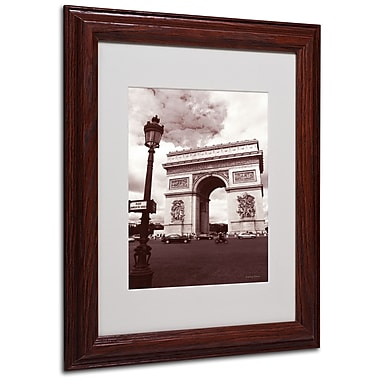 Kathy Yates 'Arc de Triomphe' Matted Framed Art - 16x20 Inches - Wood Frame