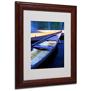 Kathy Yates 'Bois de Boulogne Boats' Matted Framed Art - 16x20 Inches - Wood Frame
