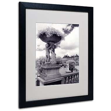 Kathy Yates 'Jardin du Luxembourg' Matted Framed Art - 11x14 Inches - Wood Frame