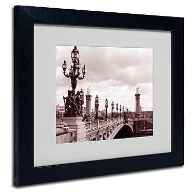 Trademark Fine Art Kathy Yates 'Pont Alexandre III Bridge' Matted Art Black Frame 16x20 Inches