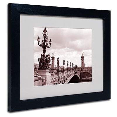 Trademark Fine Art Kathy Yates 'Pont Alexandre III Bridge' Matted Art Black Frame 16x20 Inches