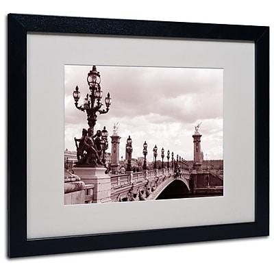 Kathy Yates 'Pont Alexandre III Bridge' Matted Framed Art - 11x14 Inches - Wood Frame