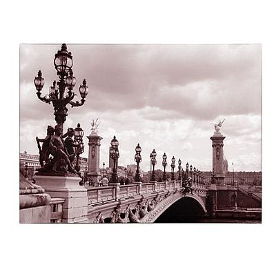 Trademark Fine Art Kathy Yates 'Pont Alexandre III Bridge' Canvas Art 22x32 Inches