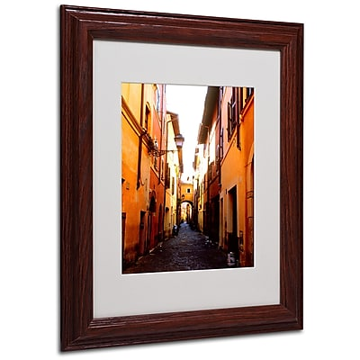 Kathy Yates 'Campo de' Fiori Alley' Matted Framed Art - 16x20 Inches - Wood Frame