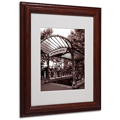 Kathy Yates 'Le Metro as Art 2' Matted Framed Art - 16x20 Inches - Wood Frame