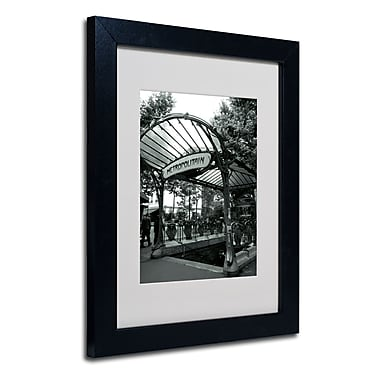 Trademark Fine Art Kathy Yates 'Le Metro as Art' Matted Art Black Frame 16x20 Inches