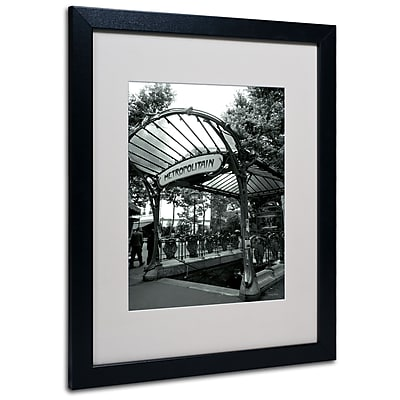 Kathy Yates 'Le Metro as Art' Matted Framed Art - 11x14 Inches - Wood Frame