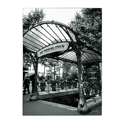 Trademark Fine Art Kathy Yates 'Le Metro as Art' Matted Art Black Frame 11x14 Inches