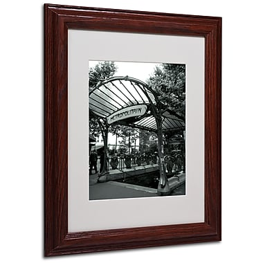 Kathy Yates 'Le Metro as Art' Matted Framed Art - 16x20 Inches - Wood Frame