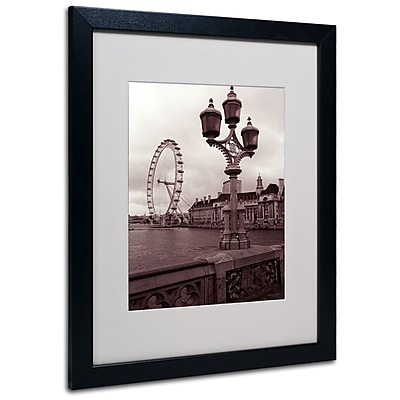 Kathy Yates 'London Eye 2' Matted Framed Art - 11x14 Inches - Wood Frame