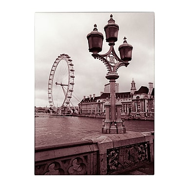 Trademark Fine Art Kathy Yates 'London Eye 2' Matted Art Black Frame 11x14 Inches