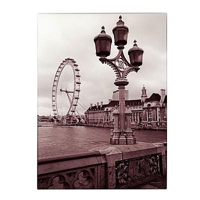 Trademark Fine Art Kathy Yates 'London Eye 2' Canvas Art 16x24 Inches