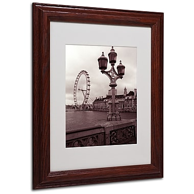 Kathy Yates 'London Eye 2' Matted Framed Art - 16x20 Inches - Wood Frame