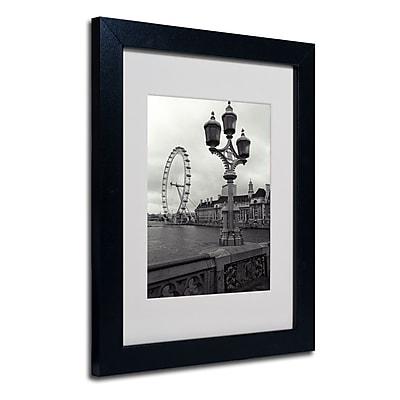Trademark Fine Art Kathy Yates 'London Eye' Matted Art Black Frame 16x20 Inches