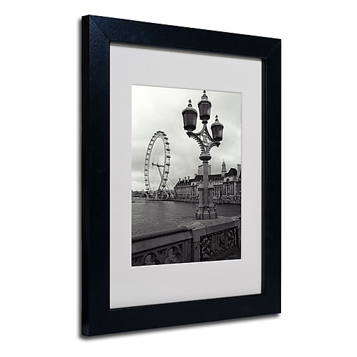 Trademark Fine Art Kathy Yates 'London Eye' Matted Art Black Frame 16x20 Inches