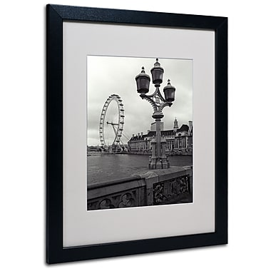 Kathy Yates 'London Eye' Matted Framed Art - 11x14 Inches - Wood Frame
