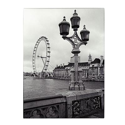 Trademark Fine Art Kathy Yates 'London Eye' Canvas Art 30x47 Inches