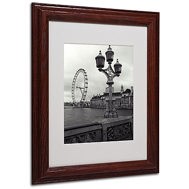 Kathy Yates 'London Eye' Matted Framed Art - 16x20 Inches - Wood Frame