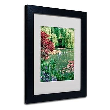 Trademark Fine Art Kathy Yates 'Monet's Lily Pond 2' Matted Art Black Frame 16x20 Inches