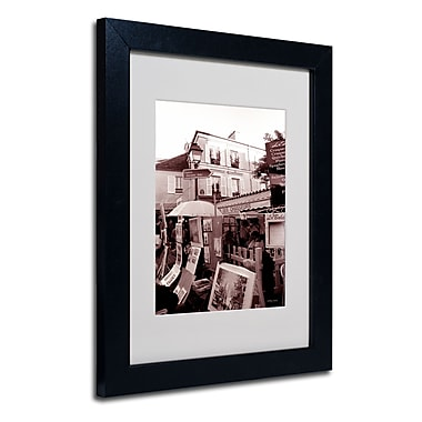 Trademark Fine Art Kathy Yates 'Montmartre 2' Matted Art Black Frame 16x20 Inches