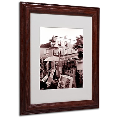 Kathy Yates 'Montmartre 2' Matted Framed Art - 16x20 Inches - Wood Frame