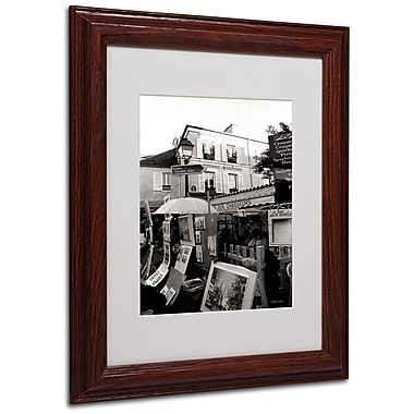 Kathy Yates 'Montmartre' Matted Framed Art - 16x20 Inches - Wood Frame