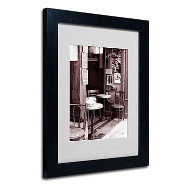 Trademark Fine Art Kathy Yates 'Paris Cafe' Matted Art Black Frame 16x20 Inches
