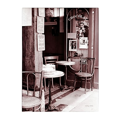 Trademark Fine Art Kathy Yates 'Paris Cafe' Canvas Art 35x47 Inches