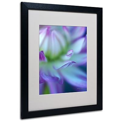 Kathy Yates 'The Color Purple' Matted Framed Art - 11x14 Inches - Wood Frame