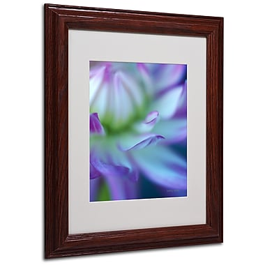 Kathy Yates 'The Color Purple' Matted Framed Art - 16x20 Inches - Wood Frame