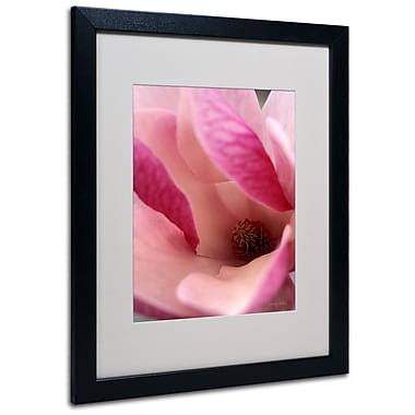 Kathy Yates 'Tulip Magnolia Blossom' Matted Framed Art - 11x14 Inches - Wood Frame
